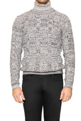 Dale Textured Rollneck Knit BLACK/WHITE