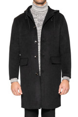Harris Hooded Coat BLACK