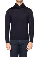 Hank Scarf Neck Knit NAVY