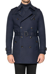 Quinn Belted Trench NAVY