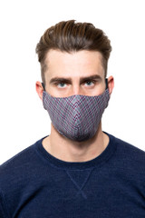 Noah Check Mask RUBY/NAVY