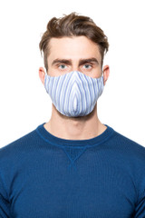 Tom Stripe Mask BLUE/WHITE