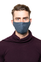 Dan Printed Mask NAVY/BLUE