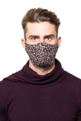 Percy Floral Mask BROWN/SKY