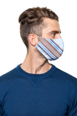 Brad Stripe Mask BLUE/COFFEE