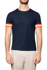 Kye Mercerised Piquet Tee NAVY