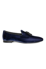 Remo Velvet Tassled Loafer NAVY