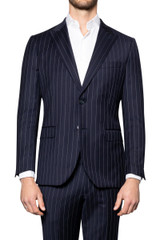 Joel Pinstripe Suit Jacket NAVY