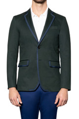 Sam Stretch Cotton GG Trim Blazer FORREST
