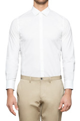 Roy Slim Stretch Shirt WHITE