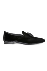Remo Velvet Tassled Loafer BLACK