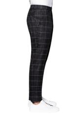 Rory Chalk Check Pant BLACK/WHITE