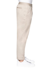 Jay Draw Waist Cuffed Stretch Cotton Pant STONE