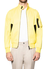 Leo Cotton Zip Jacket YELLOW