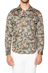 Wesley Printed Utility Shirt MILITARY
