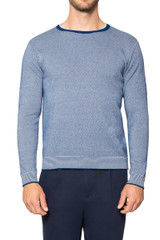 Morris Two Tone Knit BLUE