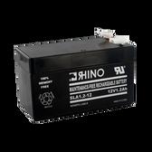 12 Volt 1.2 Ah Battery - Rhino SLA1.2-12 Sealed Lead Acid Rechargeable