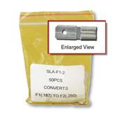 "F1 (.187"") to F2 (.250"") Adapter - 50 per bag"