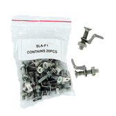 """Nut and Bolt to F1 (.187"""") Adapter - 20 per bag"""