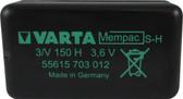 Varta 55615703012 - 3/V150H Mempac Battery - 3.6V 180mAh Ni-MH - 4 Pin
