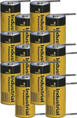 Panasonic AM1-T D Cell Battery - 1.5 Volt Alkaline w/Solder Tabs (12 Pack)
