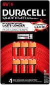 Duracell Quantum 9 Volt Batteries - 6 Pack - QU1604