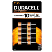 Duracell Coppertop C Batteries - Alkaline 10 Pack - MN1400