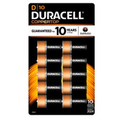 Duracell Coppertop D Batteries - Alkaline 10 Pack - MN1300