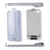 Apple iPhone 4 - 4S Battery - Extended Piggy Back (White)