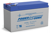 Power-Sonic PS-1270 F2 Battery - 12 Volt 7.0 Amp Hour