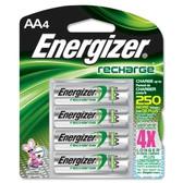 Energizer Recharge AA NiMH - Nickel Metal Hydride Batteries (4 Pack)