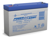 Power-Sonic PS-670 Battery - 6 Volt 7 Amp Hour