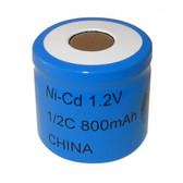 N1/2C - 1/2C NiCd - Nickel Cadmium Rechargeable Battery (FLAT TOP)