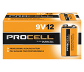 Duracell Procell 9 Volt (9V) Batteries - PC1604 Industrial (12 Pack)