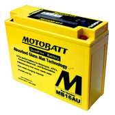 Motobatt MB16AU Battery - AGM Sealed for Motorcycle - Powersport