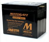 Motobatt MBHD12H Battery - AGM Sealed for Motorcycle - Powersport