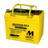 Motobatt MBU1R-35 Battery - AGM Sealed for Motorcycle - Powersport