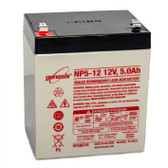 Silent Knight LCR12V4PF Battery for Alarm - Security Panel - 12V 5.0Ah