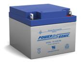 Power-Sonic PS-12260 NB Battery - 12 Volt 26Ah AGM (Nut & Bolt)