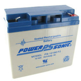 "Power-Sonic PS-12180 F2 Battery - 12 Volt 18Ah (.250"" Tabs)"