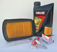 Yamaha YZF-R125 up to 2013 Service Kit - Fully Synthetic Oil, Filters & Plug