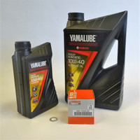 Yamalube 5l Fully Synthetic Oil Service Kit -Yamaha YZF R1 & R1M 2015 on- MT-10 2016-