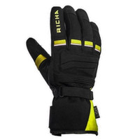 RICHA Peak Waterproof Motorcycle Gloves -Black/Flo Yellow