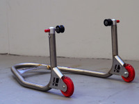 "Harris Stainless Steel ""Bobbin type"" Rear Factory Style Paddock Stand."