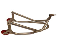 "HARRIS STAINLESS STEEL ""YOKE TYPE/ PIN TYPE"" FRONT FACTORY STYLE PADDOCK STAND. For the Yamaha YZF-R1 R1/M 2005 Onwards"