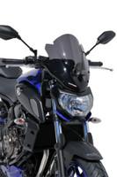 ERMAX Yamaha MT-07 Touring Screen - Dark Smoke 2018 Onward