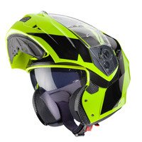 Caberg Duke II Motorcycle Modular Flip Helmet -Impact -Gloss Flo Yellow and Black
