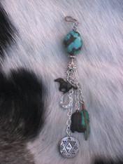 Western Style Turquoise Tassel Pendant