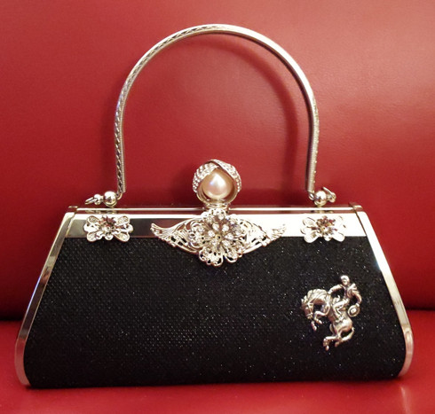 Black Bronc Top Handle Handbag