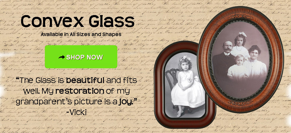 Victorian Frame Company Convex Glass Oval Picture Frames Round